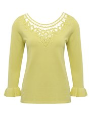 Lace neck jumper