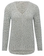 V neck shimmer jumper