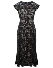 Black lace pencil dress