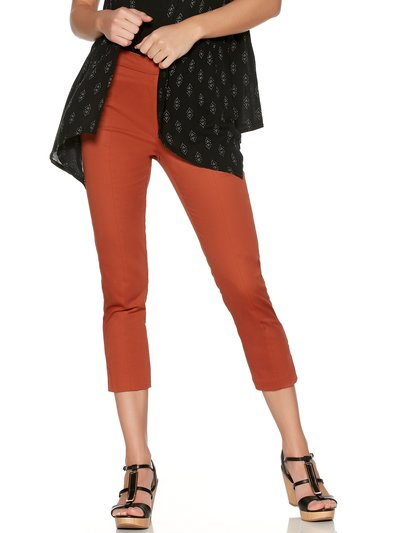 Cropped sateen trousers