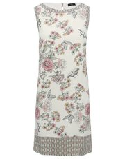 Petite floral border print shift dress