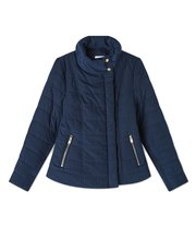 Dash asymmetric padded jacket