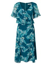 Jacques Vert floral printed soft dress