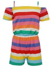 Teens' rainbow stripe playsuit