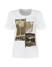 TIGI short sleeve print top