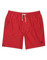 Plain red swim short