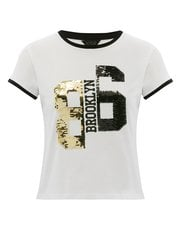 Two way sequin 86 Brooklyn t-shirt