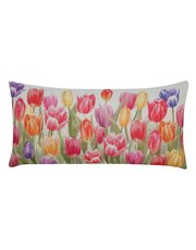 Tulips print cushion