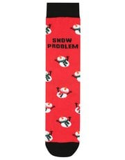 Snowman slogan socks