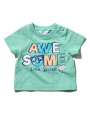 Little brother slogan print t-shirt