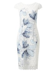 Jacques Vert printed lace dress