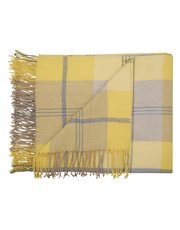 Ochre check throw