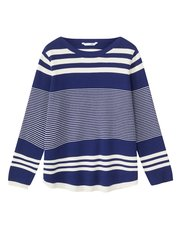 Dash boat neck stripe jumper