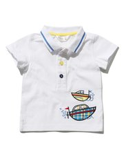 Boat applique polo shirt