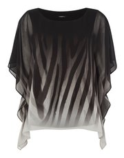 Roman Originals ombre animal chiffon overlay top