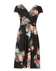Izabel wrap front midi dress