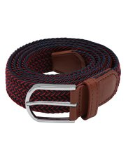 Red woven stretch belt