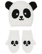 Panda hat and mitts set