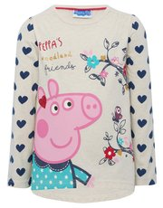Peppa Pig heart print top