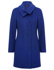 Funnel neck boucle coat