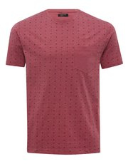 Dot print crew neck t-shirt