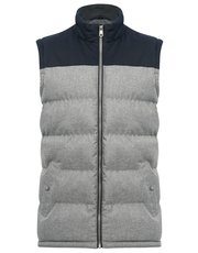 Padded two tone gilet