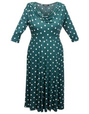Scarlett and Jo plus coin spot 40s tea dress
