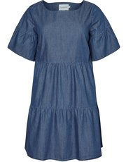 Junarose tiered denim dress