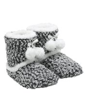 Totes bobble knit bootie slippers