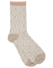 Tile pattern jacquard socks