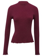 Teens' metallic knit frill jumper