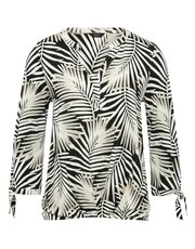 Palm print tie sleeve top
