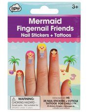 Teens' NPW mermaid nail stickers and tattoos