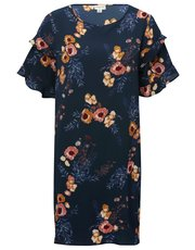 JDY floral frill sleeve dress