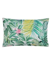 Tropical leaf print cushion