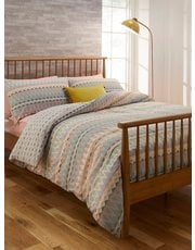 Patterned stripe duvet set