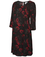 Mamalicious floral print maternity wrap dress