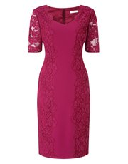 Jacques Vert Portia lace trim dress