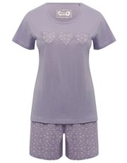 Love heart short pyjamas