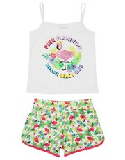 Teens' flamingo summer pyjamas
