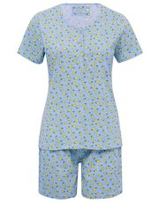 Lemon print short pyjamas