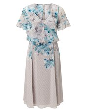 Jacques Vert printed dobby soft dress