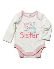 Sweet little sister slogan print bodysuit