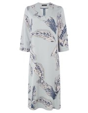 VIZ-A-VIZ feather print v-neck dress