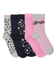 Teens' Sparkly socks five pack