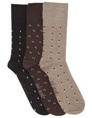 Gentle Grip geo pattern socks three pack