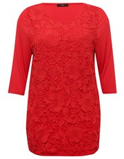 Plus lace panel top