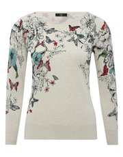 Petite butterfly floral jumper