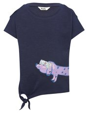 Two way sequin sausage dog t-shirt