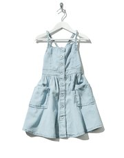 Minoti chambray pinafore dress